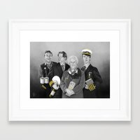cabin pressure Framed Art Prints featuring Cabin Crew by tillieke