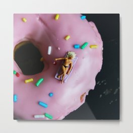 A Day at the Donut Beach. 1 Metal Print