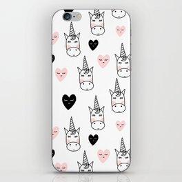 Unicorn hearts iPhone Skin