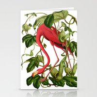 flamingo Stationery Cards featuring Flamingo by Fifikoussout