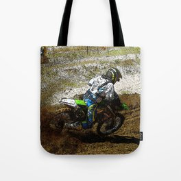 Round the Bend - Dirt-Bike Racing Tote Bag