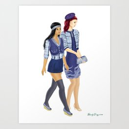 Fashion Journal: Day 25 Art Print