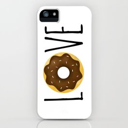 I Love Donuts iPhone Case