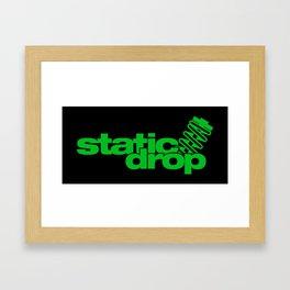 Static drop v5 HQvector Framed Art Print