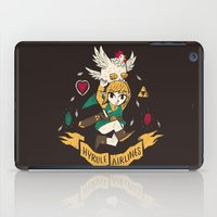 hyrule iPad Cases featuring hyrule airlines brown by Louis Roskosch