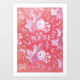 Patterned Silk Rose Art Print