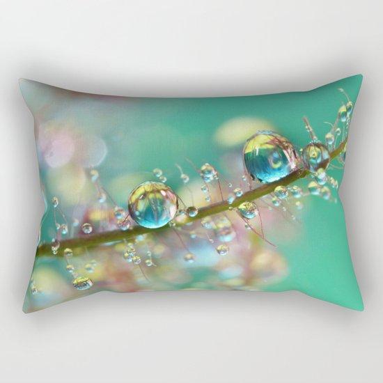 Smokey Rainbow Drops Rectangular Pillow