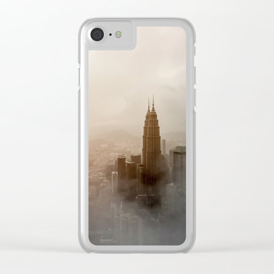 Foggy City Clear iPhone Case