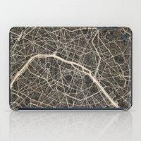 paris map iPad Cases featuring Paris map by NJ-Illustrations