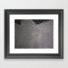 Rain Droplets  Framed Art Print