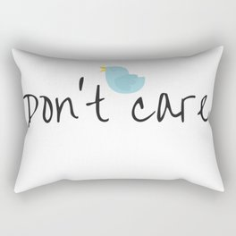 Don't care Rectangular Pillow