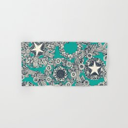 cirque fleur turquoise Hand & Bath Towel