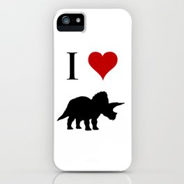I Love Dinosaurs - Triceratops iPhone Case