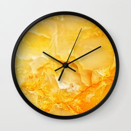 Yellow onyx marble Wall Clock