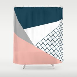 Colorful geometry 16 Shower Curtain