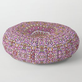 Colorful Spiritual Garden Mandala Floor Pillow