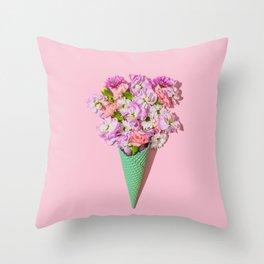 Flower Flurry I Throw Pillow