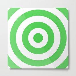 Target (Green & White Pattern) Metal Print