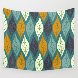 Autumn Leaves, Cozy Fall Pttern Wall Tapestry