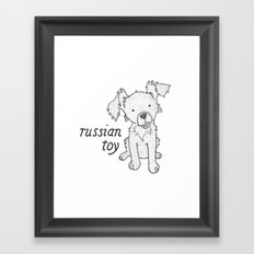 Dog Breeds: Russian Short Haired Terrier Framed Art Print