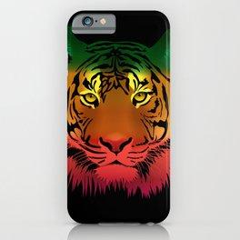 Jamaican Flag Tiger iPhone Case