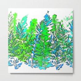 Blue Fern 2 Metal Print