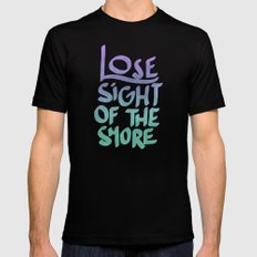 The Shore MEDIUM Black Mens Fitted Tee