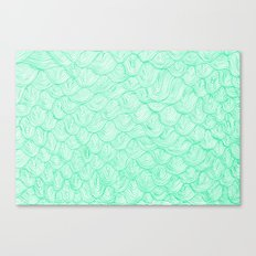 waves / green Canvas Print