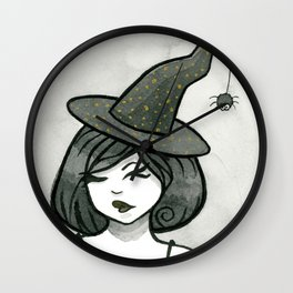 Crooked Witch Wall Clock