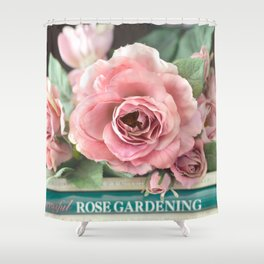 Roses Pink Peach Romantic Rose Flowers Gardening Decor Shower Curtain