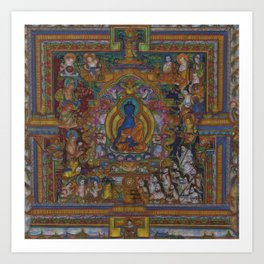 The Medicine Buddha Art Print