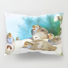 English partridge with gorse and thistles - Digital Remastered Edition Pillow Sham