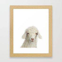Lamb Art Print by Zouzounio Art Framed Art Print