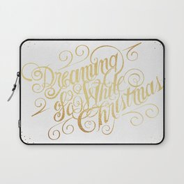 Dreaming of a White Christmas Laptop Sleeve