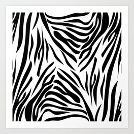 Black and White Zebra Print Art Print