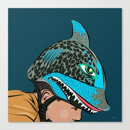 The Shark Helmet Canvas Print