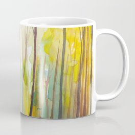 Sunset In Green Glowing Mystical Forest Coffee Mug