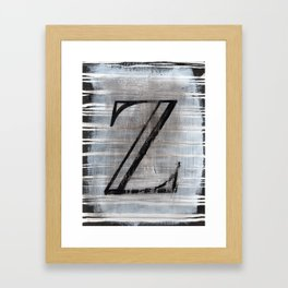 - Z - Framed Art Print