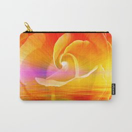 Sunset Rose Abstract Carry-All Pouch