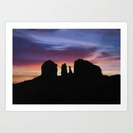 Sunrise Silhouettes Art Print