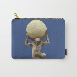 Man with Big Ball Illustration dark blue Carry-All Pouch