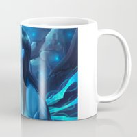league of legends Mugs featuring League of Legends - Kalista by dNiseb
