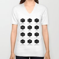 zodiac V-neck T-shirts featuring Zodiac by Dorothy Leigh