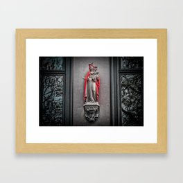 Our Lady Of The Red Cape Framed Art Print