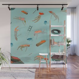 fake swimmers Wall Mural