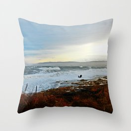 Sainte-Anne-Des-Monts and the Surf Throw Pillow