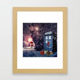 Tardis Christmas Framed Art Print