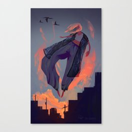 Seduced by the Sunset Canvas Print