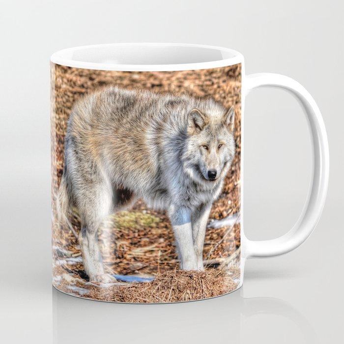 Arctic Wolf And Pine Tundra Coffee Mug By Skyeryanevans Society6