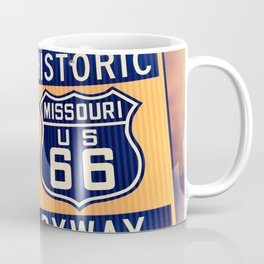 Historic route 66 highway sign in Missouri USA Coffee Mug